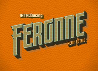 Feronne Serif Gothic Family Regular Font