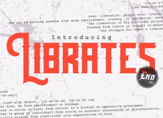 Librates Typeface Font