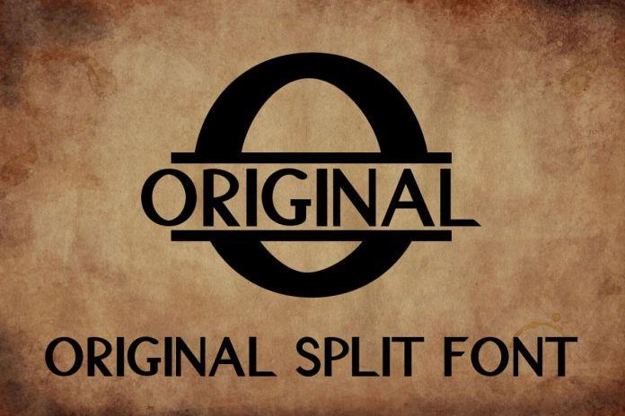 Original Split Font - A Monogram FontRegular Font