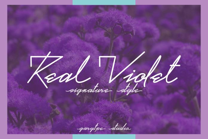 Real Violet Script Font
