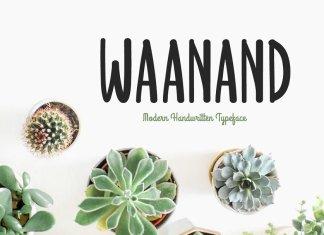 Waanand Typeface Font