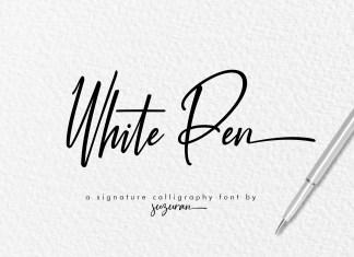 White Pen Script Font