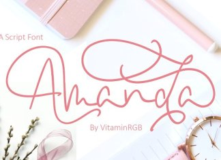 Amanda Script Font