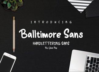 Balltimore Sans - Handlettering Sans
