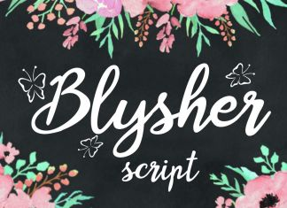 Blysher Script Font