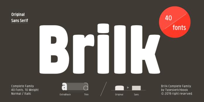 Brilk Font Family