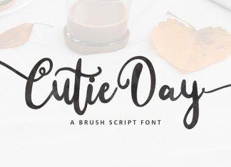 Cutie Day - a Cute Script Font