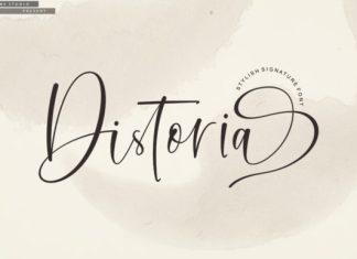 Distoria Script font