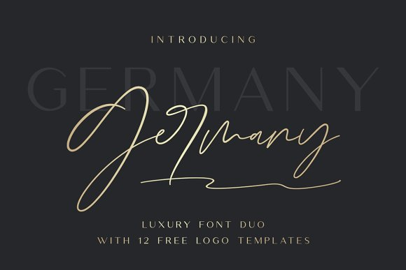 Germany - Luxury Font Duo