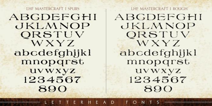 LHF Mastercraft Font Family