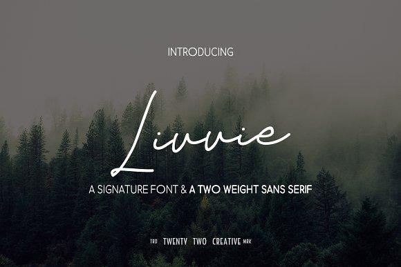Livvie - Signature & Sans Font Duo