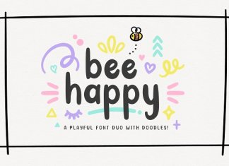 NEW! BeeHappy Font Duo