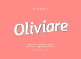 Oliviare Typeface Font
