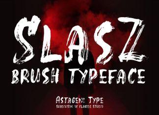 SlasZ BrushLogo Font