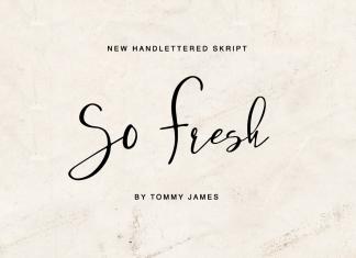 So FreshScript Font