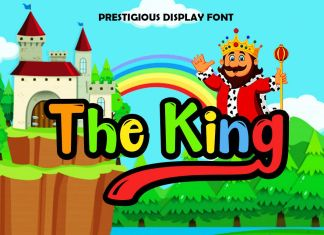 The King Display Script Font