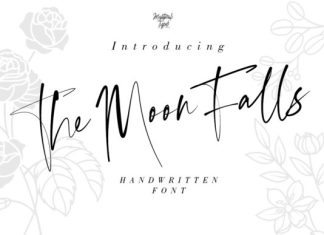 The Moon Falls Font