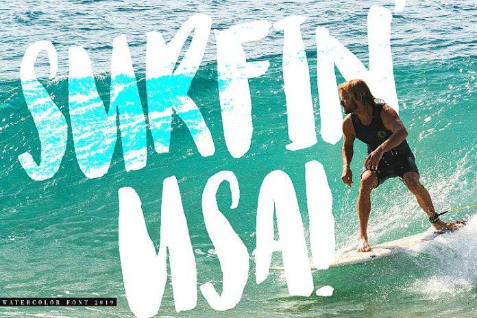 Watercolor Opentype-SVG FontScript Font