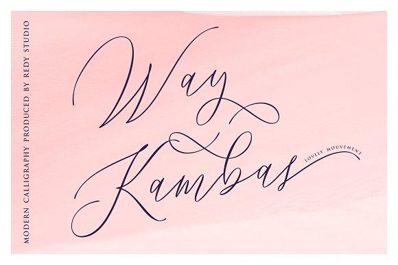 Way Kambas Font