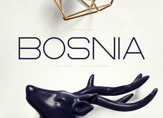 Bosnia - Sans Serif font