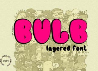 Bulb Layered Font