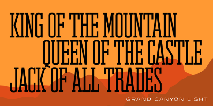 Grand Canyon RR Font Family