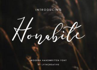 Honabite Script Font