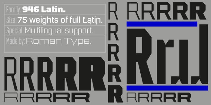 Latin Font Family