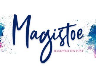 Magistoe script Font