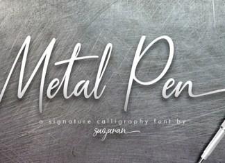 Metal Pen Font