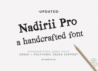 Nadirii Font | Handcrafted Script Font