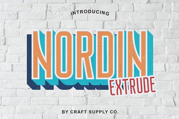 Nordin Extrude Font Family