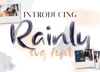 Rainly - Brush & SVG FontScript Font