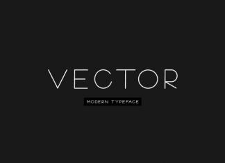 VECTOR - Minimal & Modern Typeface
