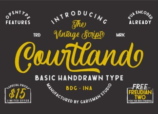 Courtland Handdrawn Font