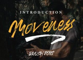 Moveness Brush Font