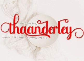 Thaanderley Script Font