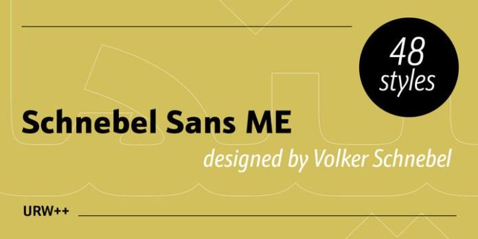 Schnebel Sans ME Font Family
