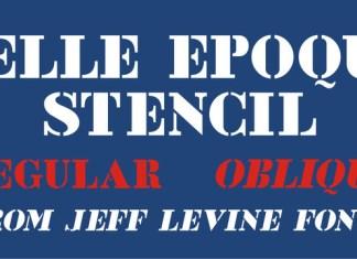 Belle Epoque Stencil JNL Font Family