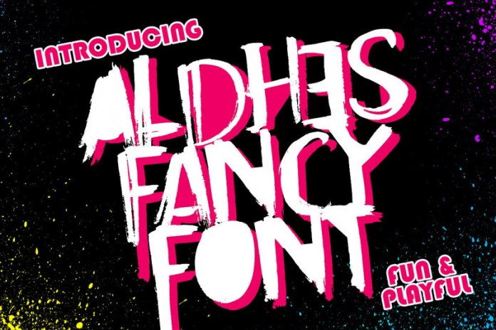 Aldhes Fancy Font Regular