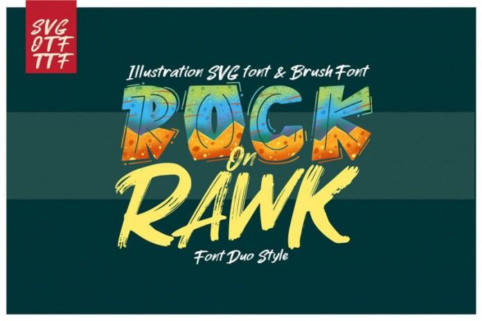 ROCK on RAWK | SVG Font