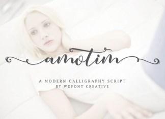 Amotim | New Calligraphy Script Font