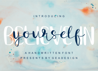 Believe in Yourself Font