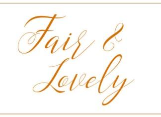 Fair & Lovely Font