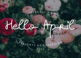 Hello April Font