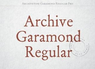 Archive Garamond Pro Font Family