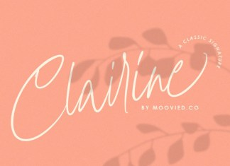 Clairine a classic signature Font