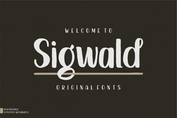Sigwald - Handdrawn  Font