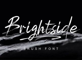 Brightside Brush Script Font, Brightside, Brush, Script, Font