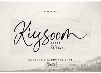 Kiysoom Signature Font